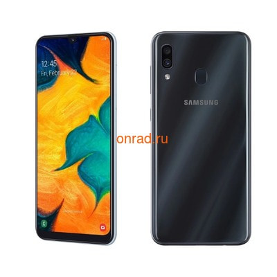 Смартфон Samsung Galaxy A30 64GB Black