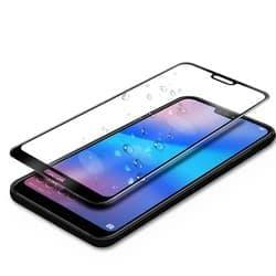Защитное стекло полноразмерное на Huawei P20 Lite черное