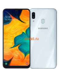 Смартфон Samsung Galaxy A30 64GB White